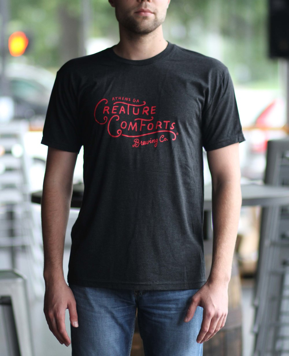 Red & Black Logo Triblend Tee