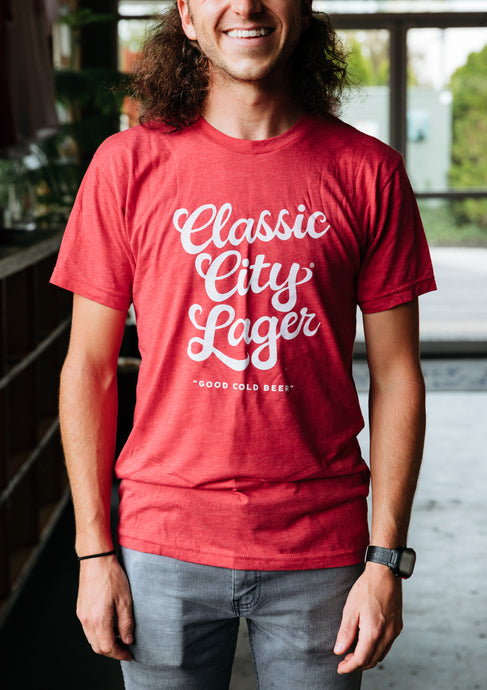Classic City Lager Red Triblend Tee