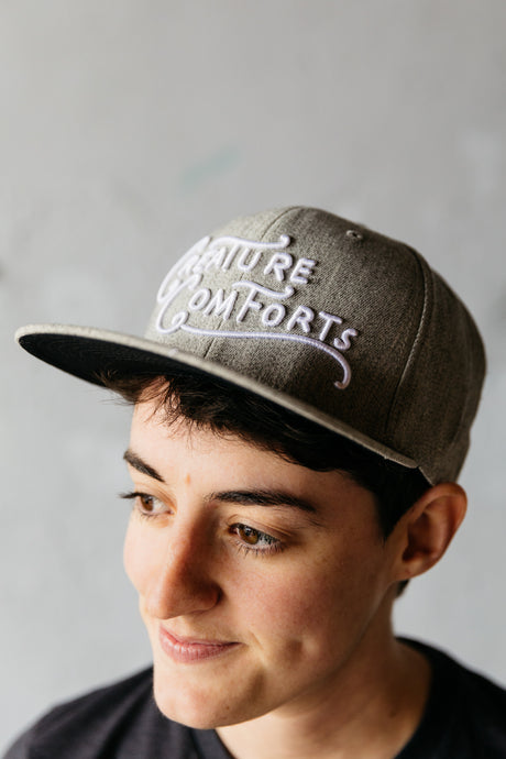 CCBC Logo Flat Bill Flex Fit Hat (Heather Grey)