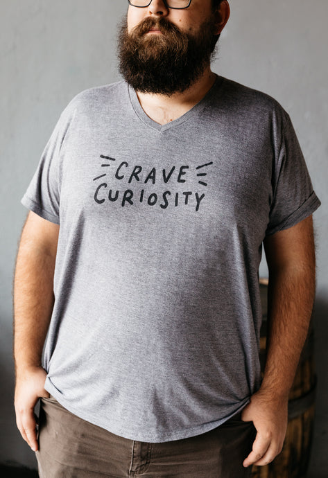 Grey Crave Curiosity Triblend V-Neck