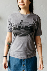 Grey Building Triblend Tee