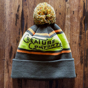 Slouchy Logo Beanie (Yellow/Orange/Army Green)