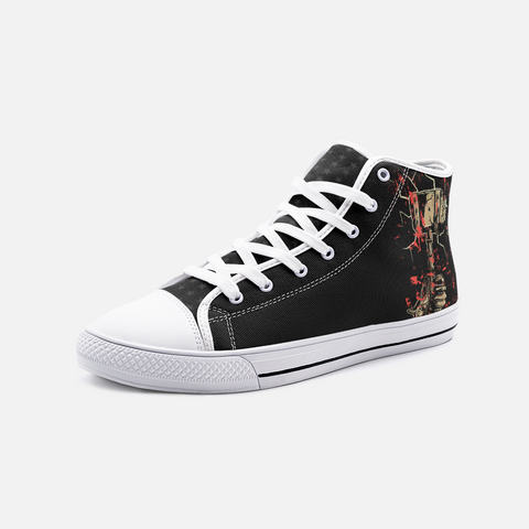"""Tror's Hammer"" Unisex High Top Canvas Shoes"