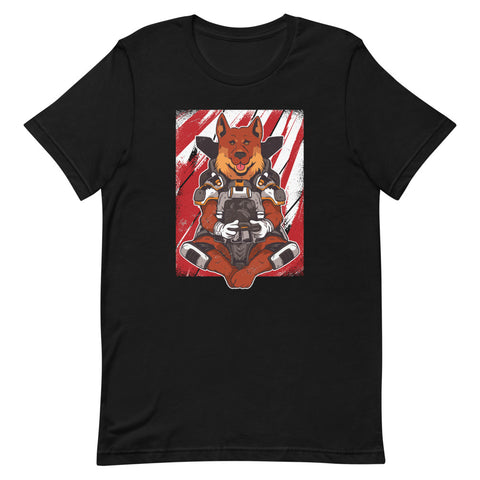 """Apex German Shepard"" Short-Sleeve Unisex T-Shirt"
