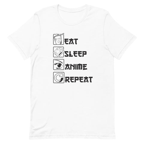 Eat, Sleep, Anime, Repeat Short-Sleeve Unisex T-Shirt