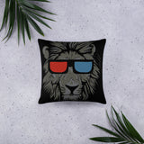 """Anaglyph Lion"" Basic Pillow"