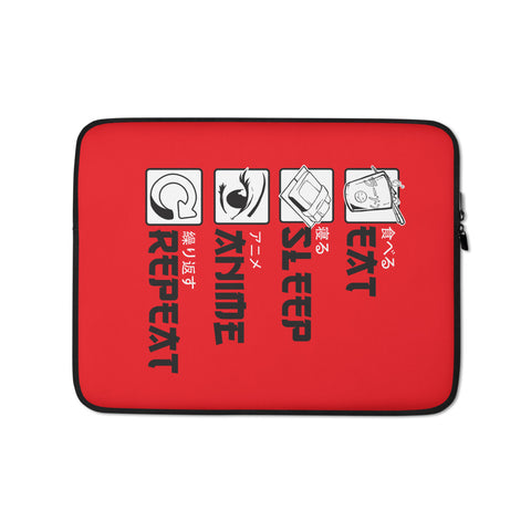 """Eat - Sleep - Anime - Repeat"" Laptop Sleeve"