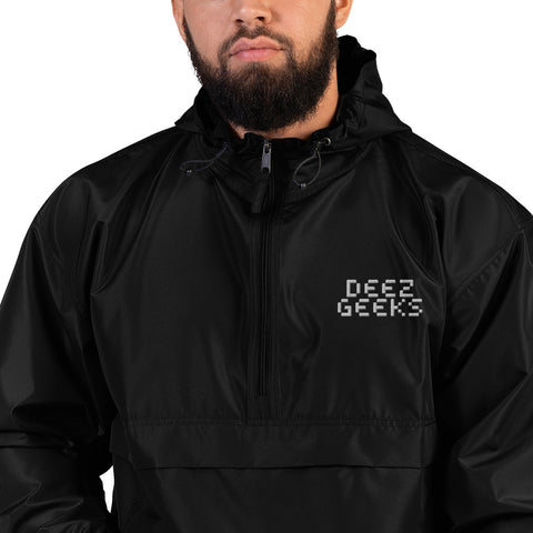 Deez Geeks Embroidered Champion Packable Jacket