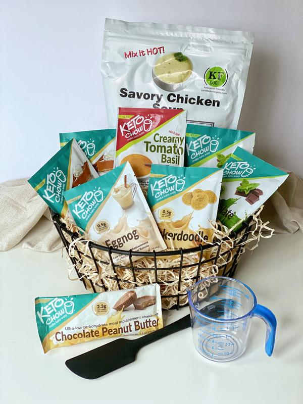 Keto Chow Holiday Bundle in a Basket