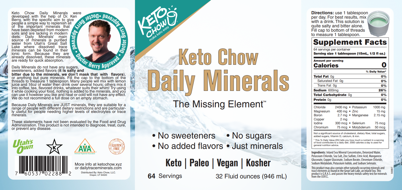 Scan of Daily Minerals label