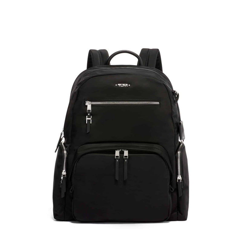 TUMI Voyageur Carson Backpack in colour Black Silver- Forero's Vancouver Richmond