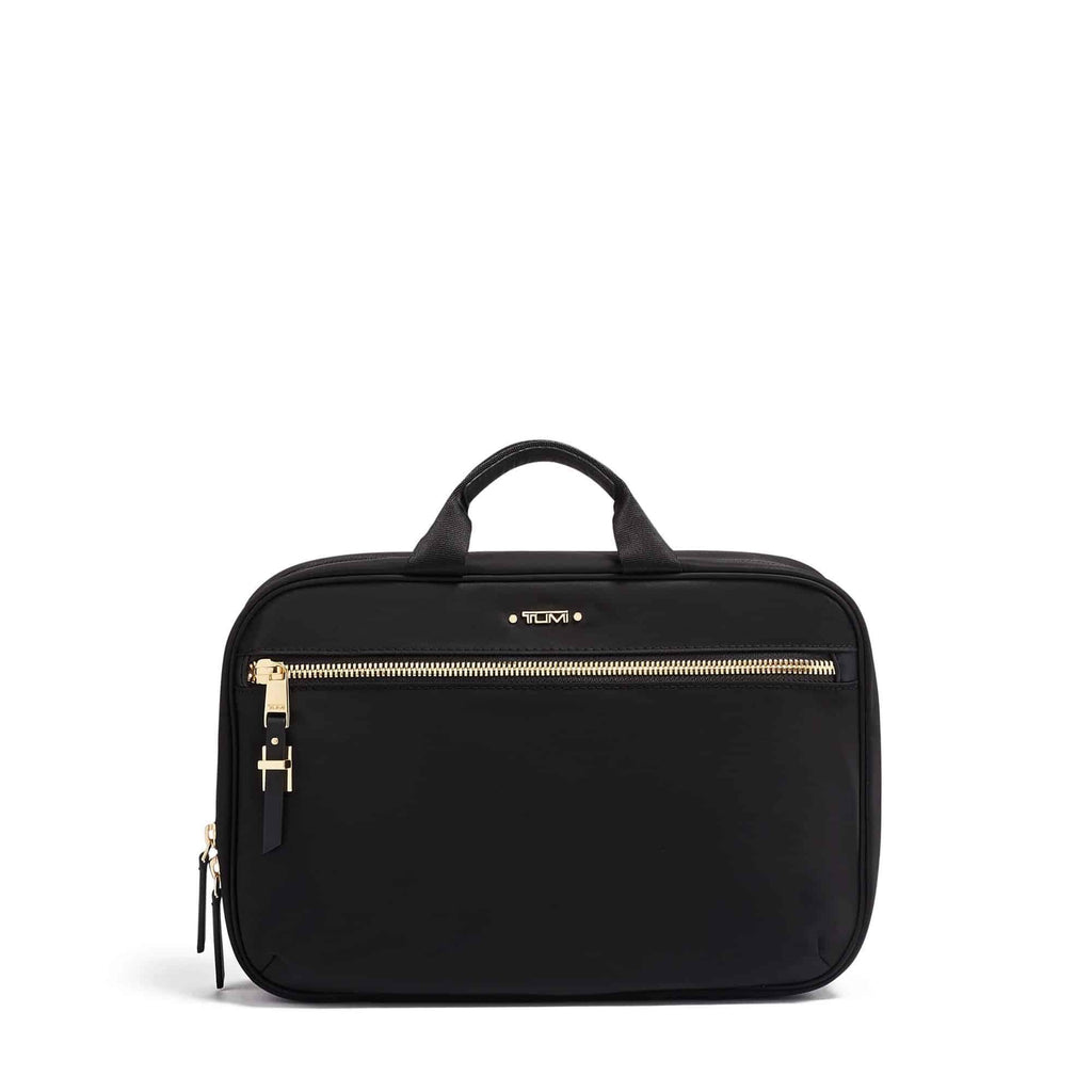 TUMI Voyageur Madina Cosmetic in colour Black-Gold - Forero's Vancouver Richmond