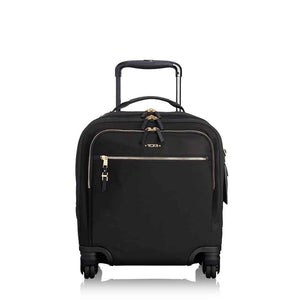 TUMI Voyageur Osona Compact Carry-On in Black-Gold front view