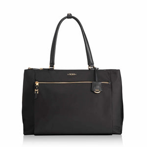 TUMI Voyageur Sheryl Business Tote in Black-Gold - Forero's Vancouver Richmond