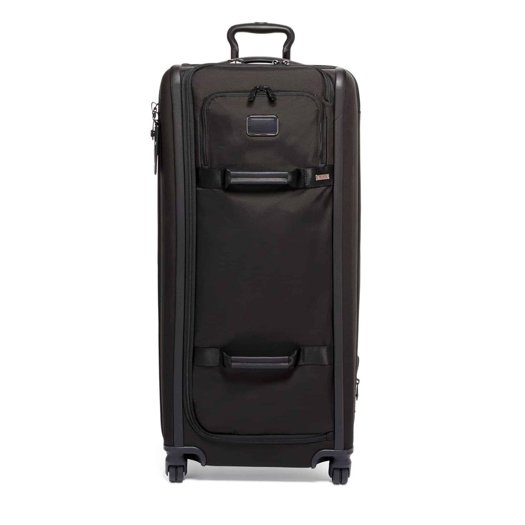 Tumi 117169 Alpha 3 Tall 4-Wheeled Duffle Packing Case black - front