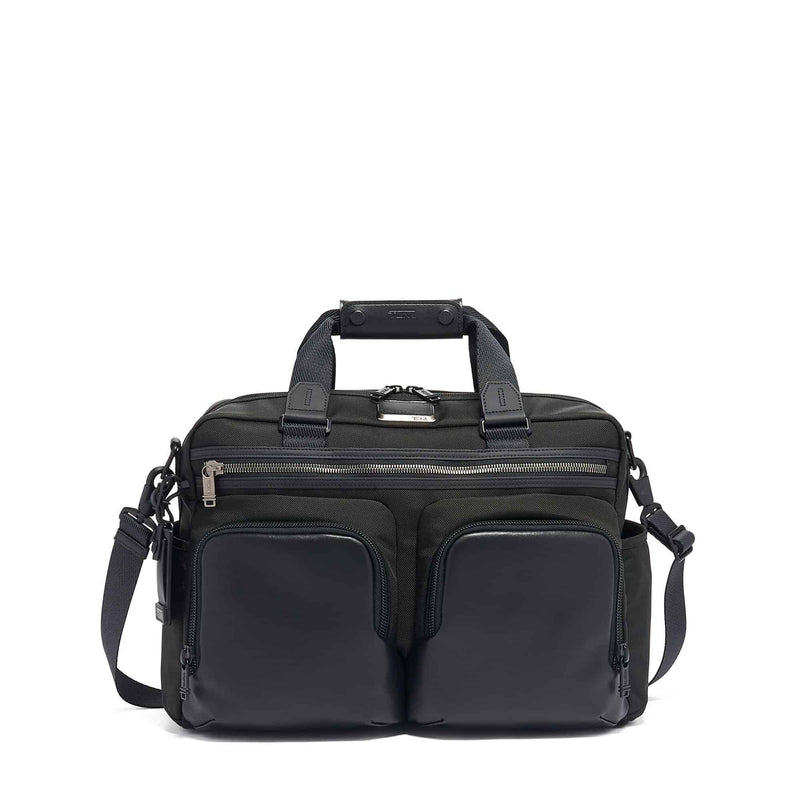 Tumi 117289 Alpha Bravo Hunter Satchel black - front