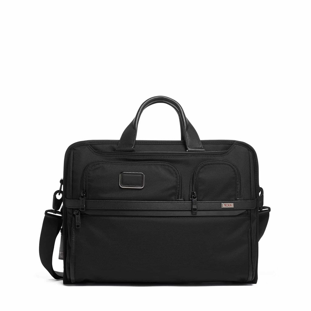 Tumi 117302 Alpha 3 Compact Large Screen Laptop Brief black - front