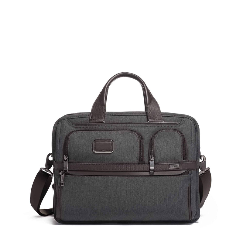 Tumi 117313 Alpha 3 Expandable Organizer Laptop Brief anthracite - front