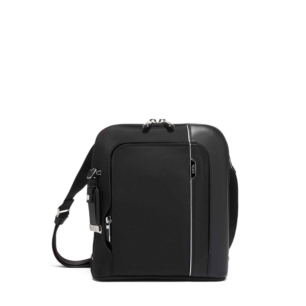 TUMI Arrivé Olten Crossbody in colour Black - Forero's Bags and Luggage Vancouver Richmond