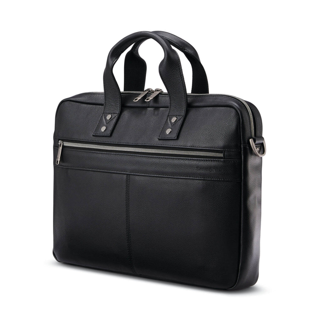 "Classic Leather Slim Brief (15.6"") - Forero's Bags and Luggage"