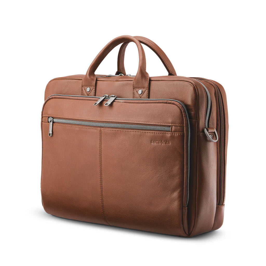 "Classic Leather Toploader (15.6"") - Forero's Bags and Luggage"