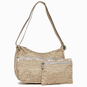 LeSportsac Women's Classic Hobo Bag in Positano Straw front view