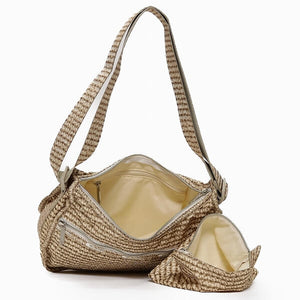 LeSportsac Women's Classic Hobo Bag in Positano Straw inside view