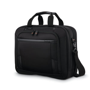 "Samsonite Pro Double Compartment Brief 15.6"" in Black front view"