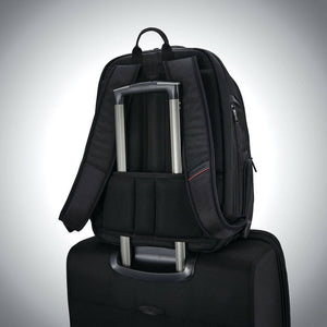 "Samsonite Pro Standard Backpack Expandable 15.6"" in Black rear view"
