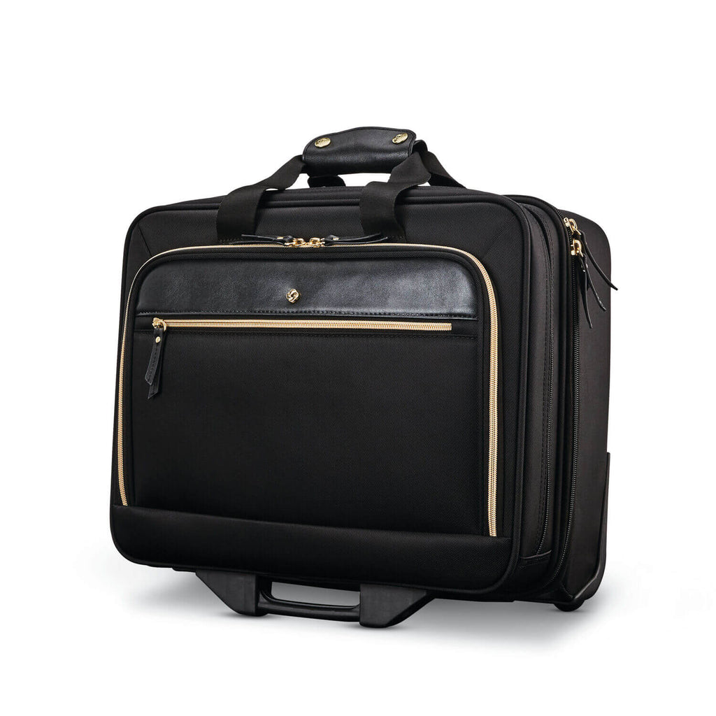 "Samsonite Mobile Solution Wheeled Mobile Office 15"" in Black front view"