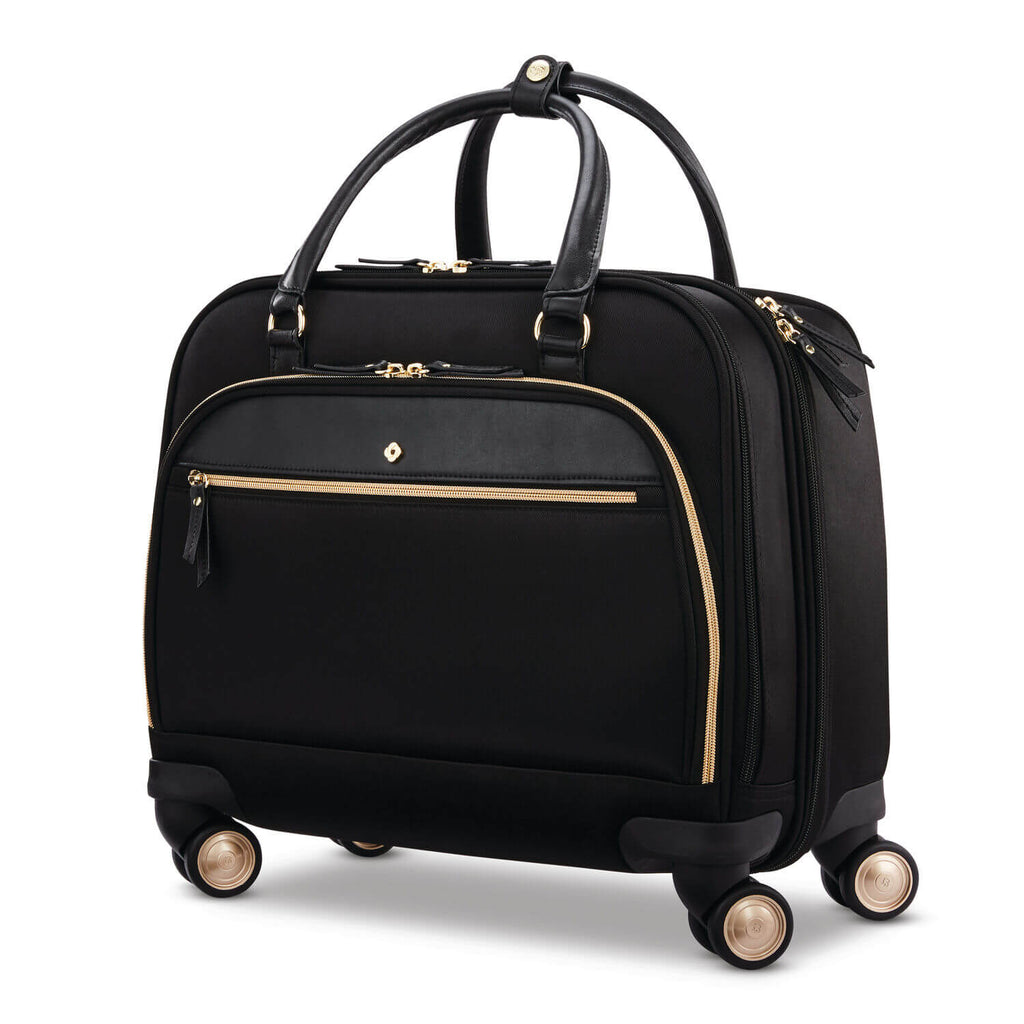 "Samsonite Mobile Solution Spinner Office w/ USB 15"" in colour Black - Forero's Bags and Luggage Vancouver Richmond"