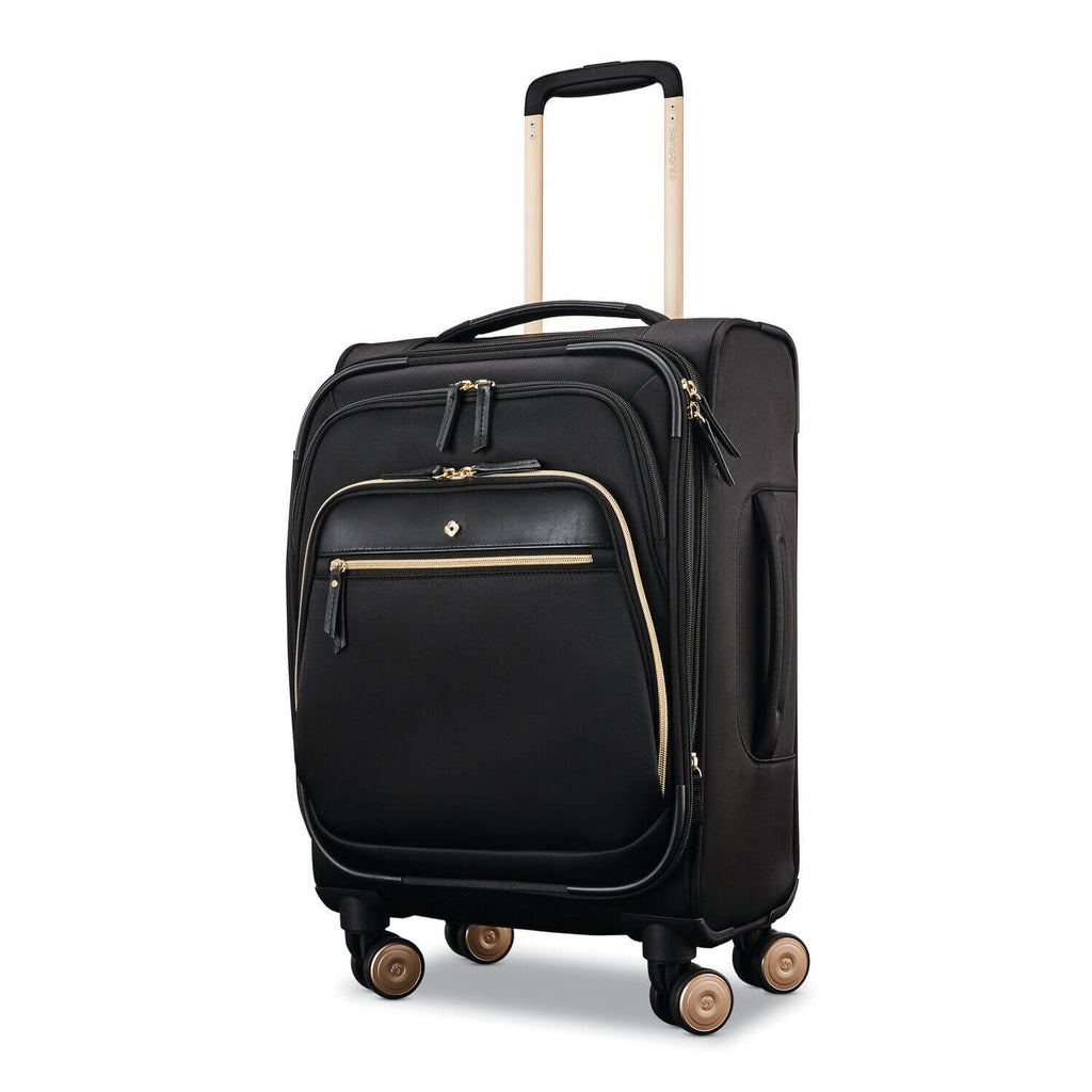 Samsonite Mobile Solution Women's Spinner Carry-On Expandable in colour Black front view