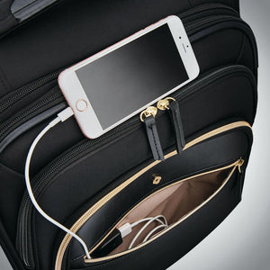 Samsonite Mobile Solution Women's Spinner Carry-On Expandable in colour Black - Forero's Bags and Luggage Vancouver Richmond