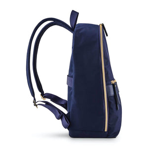 "Samsonite Mobile Solution Essential Backpack 14.1"" in Navy Blue side view"