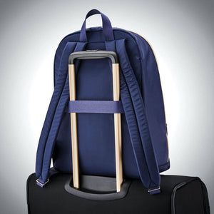 "Samsonite Mobile Solution Essential Backpack 14.1"" in Navy Blue rear view"