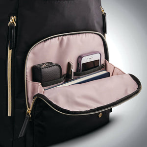 "Samsonite Mobile Solution Deluxe Backpack 15.6"" in Black front organizer"