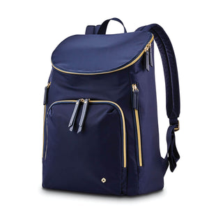 "Samsonite Mobile Solution Deluxe Backpack 15.6"" in Navy Blue front view"