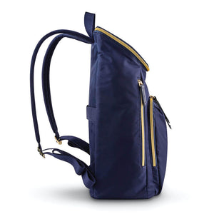 "Samsonite Mobile Solution Deluxe Backpack 15.6"" in Navy Blue side view"