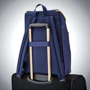 "Samsonite Mobile Solution Deluxe Backpack 15.6"" in Navy Blue rear view"