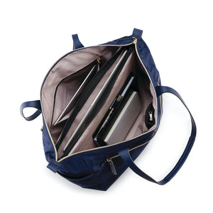 "Samsonite Mobile Solution Deluxe Carryall 15.6"" in Navy Blue inside view"
