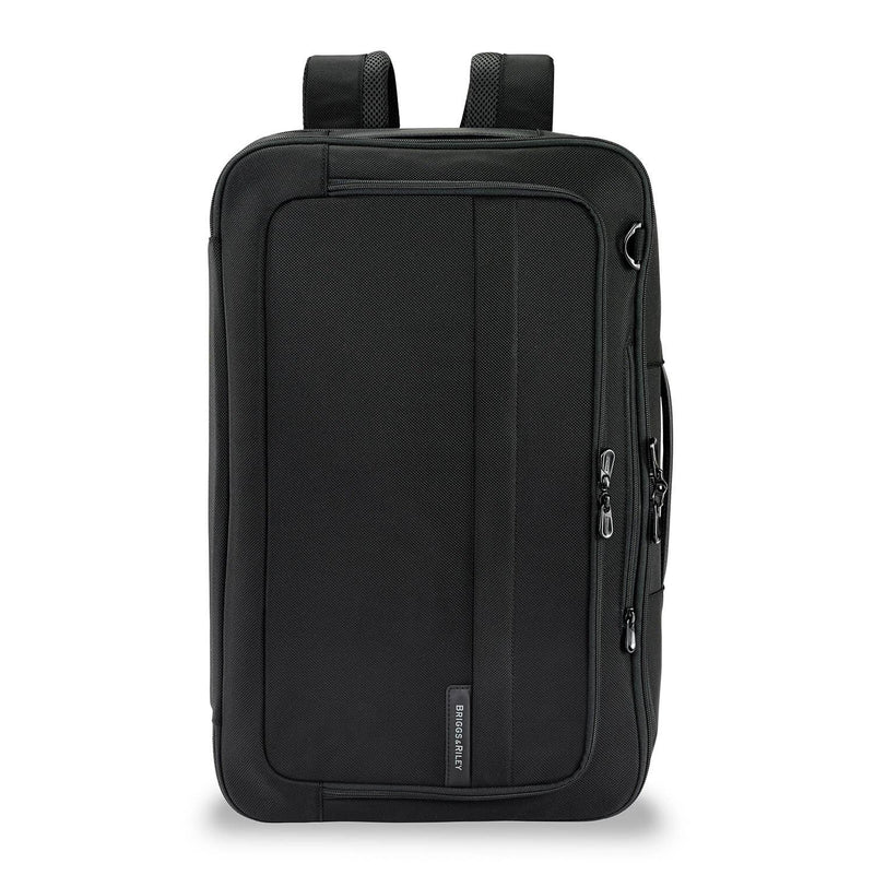 Briggs & Riley Baseline Convertible Duffle-Backpack in Black front view