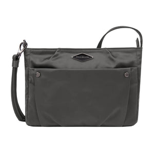 Travelon Anti-Theft Parkview Small Crossbody in colour Pearl Gray - Forero's Bags and Luggage Vancouver Richmond