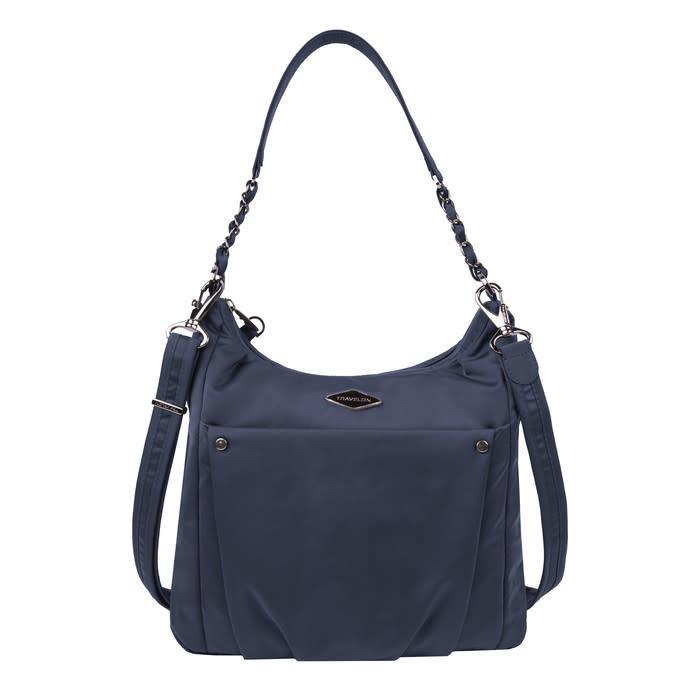 Travelon Anti-Theft Parkview Hobo Crossbody in colour Navy - Forero's Bags and Luggage Vancouver Richmond