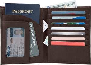 Safe ID Leather Passport Wallet - Forero's Bags and Luggage