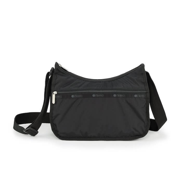 LeSportsac Women's Classic Hobo Bag in Black front view