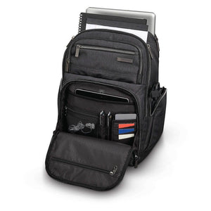 "Samsonite Modern Utility Double Shot Backpack 15.6"" in Charcoal packed full"
