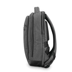 "Samsonite Modern Utility Small Backpack 13.3"" in Charcoal Heather side view"