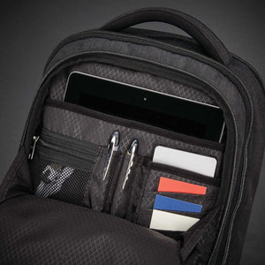 "Samsonite Modern Utility Small Backpack 13.3"" in Charcoal Heather organizer pocket"