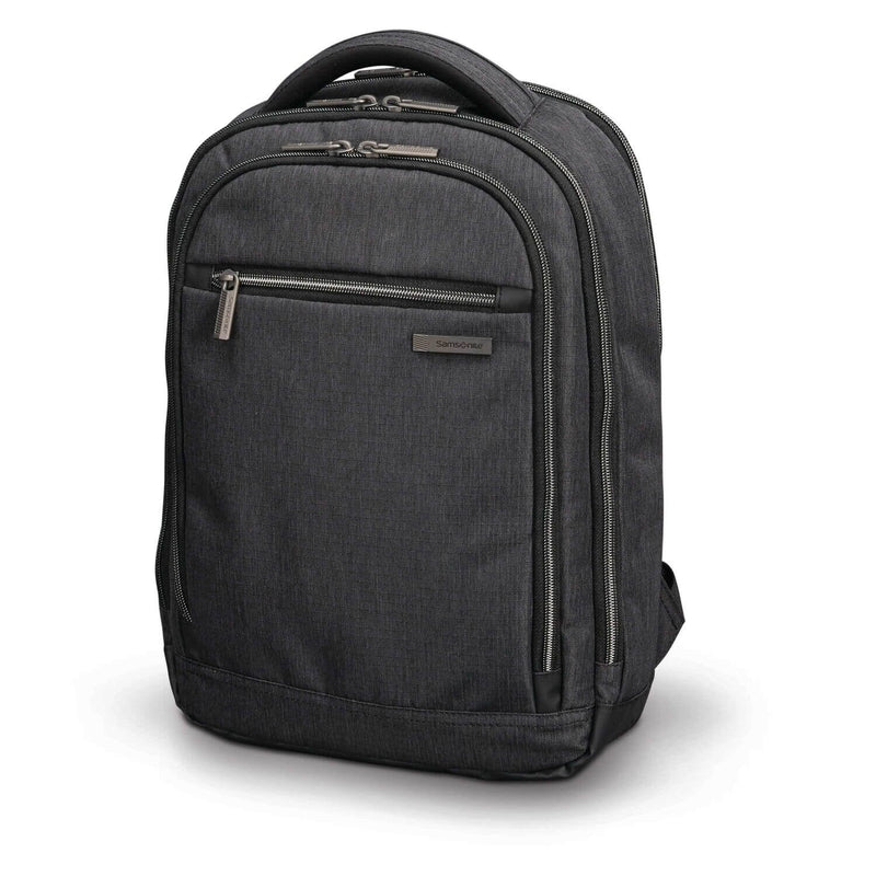 "Samsonite Modern Utility Small Backpack 13.3"" in Charcoal Heather front view"