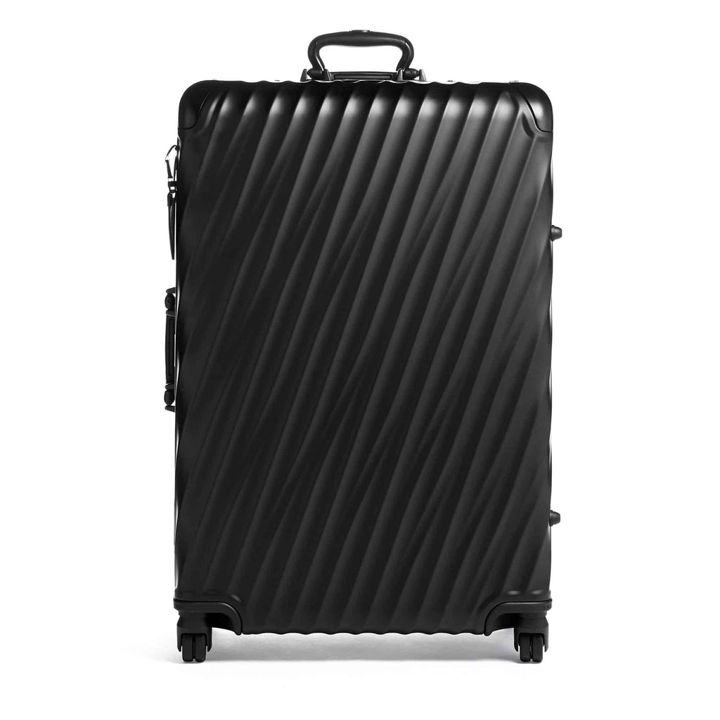 TUMI 19 Degree Aluminum Extended Trip Packing Case in Black front view
